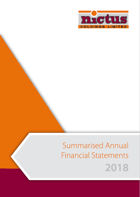 Financial Statement 2018 Summary